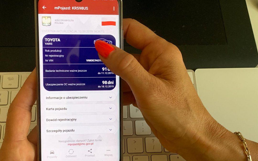 mPojazd, czyli dowód rejestracyjny w smartfonie